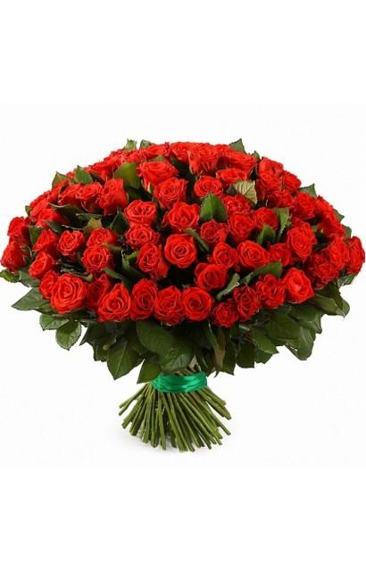 Букет из 101 розы сорта Эль Торо