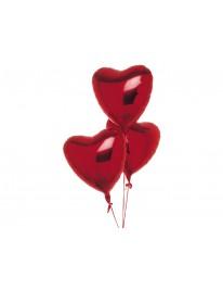 """Связка фольгированных шаров """"Три сердца"""""""