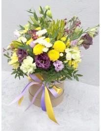 Цветы в шляпных коробках