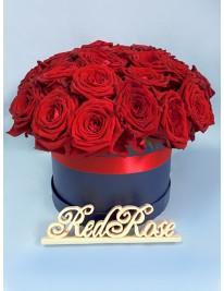 Розы в шляпных коробках и кульках